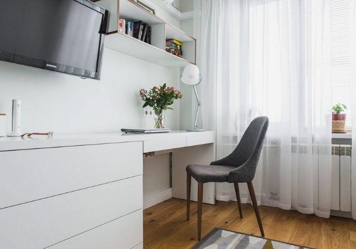 Нейтральный интерьер съёмной квартиры