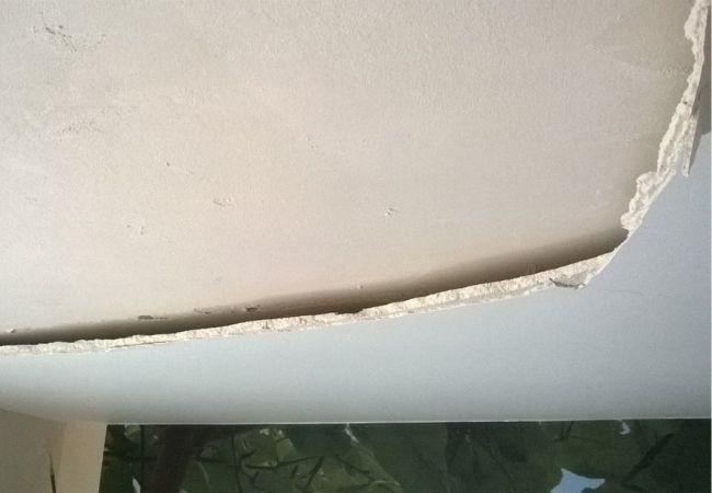 Штукатурка потолка от застройщика