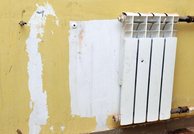 Установка радиаторов от застройщика