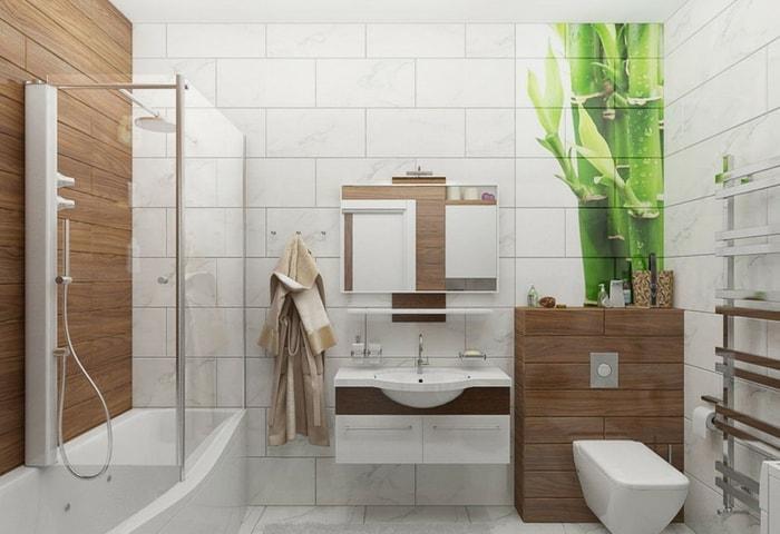 Светлый дизайн ванной в современном стиле