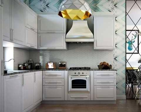 Ремонт таунхауса, угловая кухня СПБ