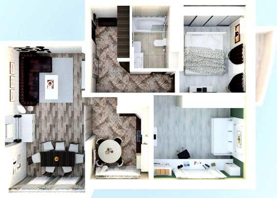 Ремонт трёхкомнатной квартиры с перепланировкой
