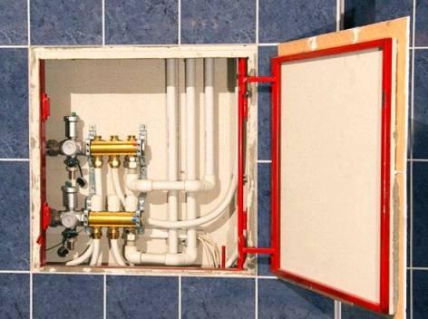 Скрытые лючки под плитку в ванной СПб