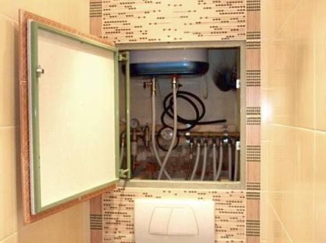 Установка скрытого лючка в ванной СПб