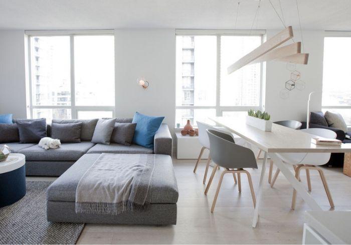 Простое зонирование с помощью мебели